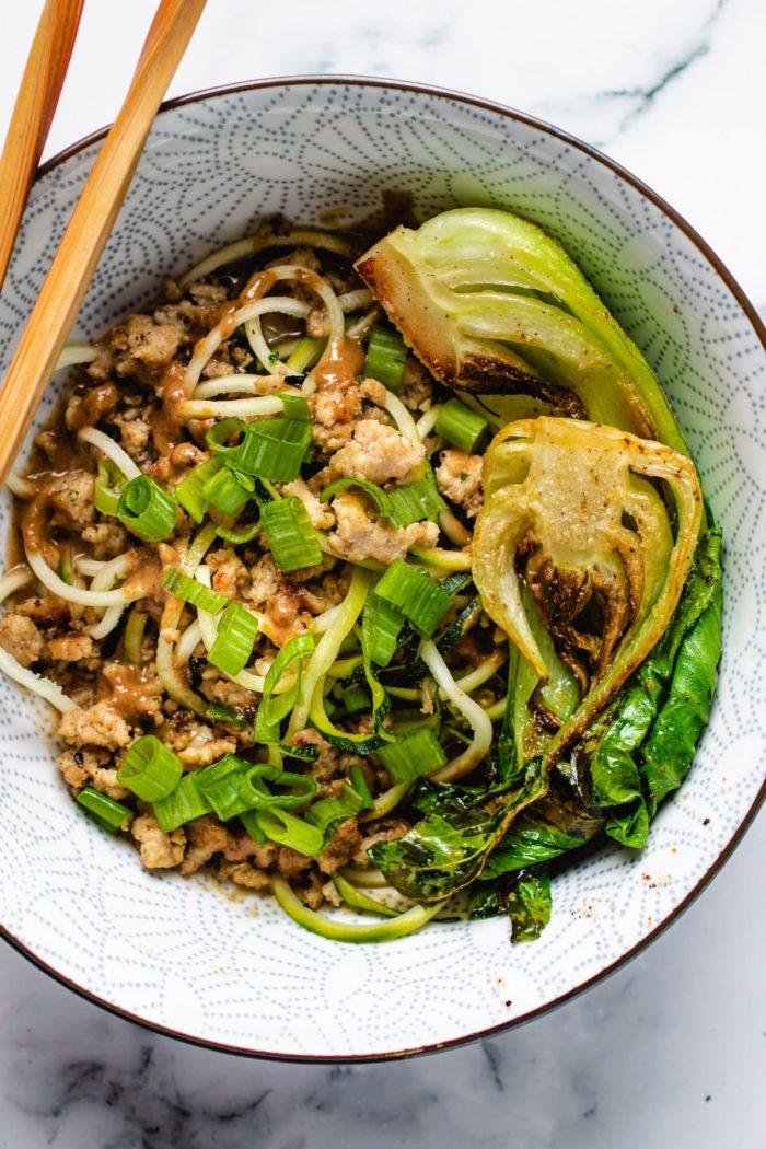 Easy dan dan noodles from the meal plan