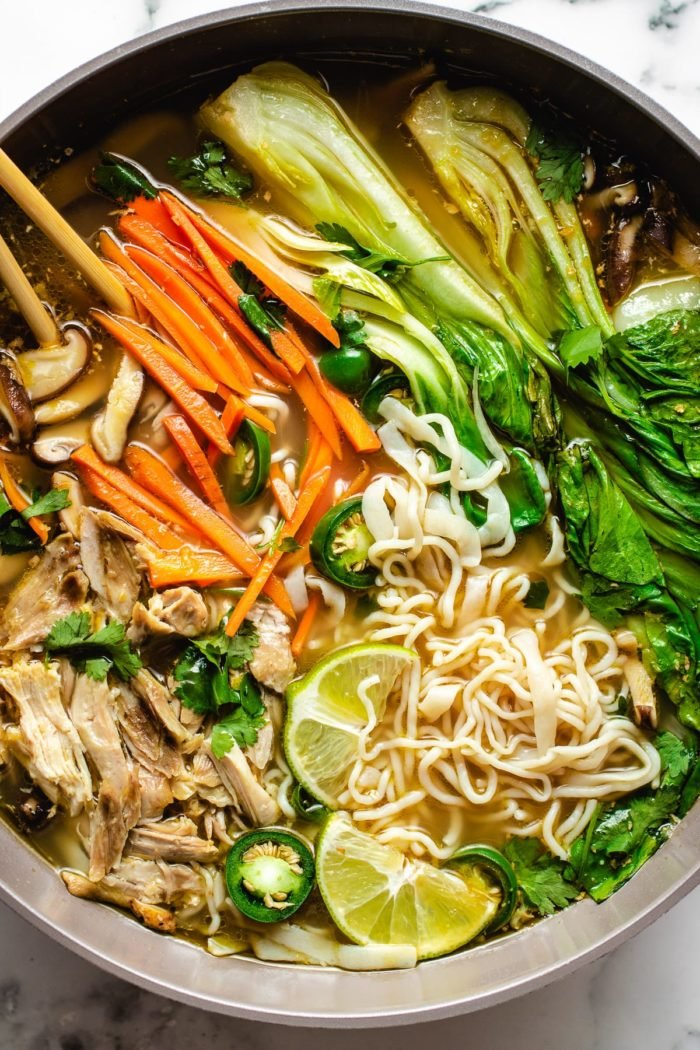 Asian Chicken Noodle Soup Keto Leftover Turkey I Heart Umami