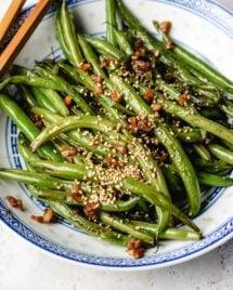 How to make Chinese garlic green beans recipe