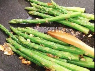 Add the asparagus to the sauce