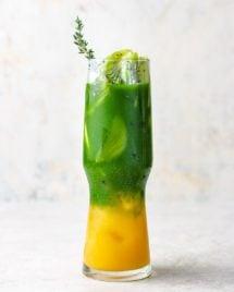 A cover image for the Iced matcha mango tea recipe