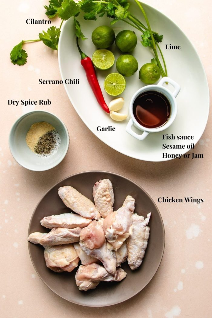Ingredients to make the dish